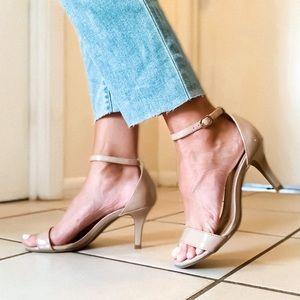 / B A N D O L I N O • Nude Kitten Heel Sandal